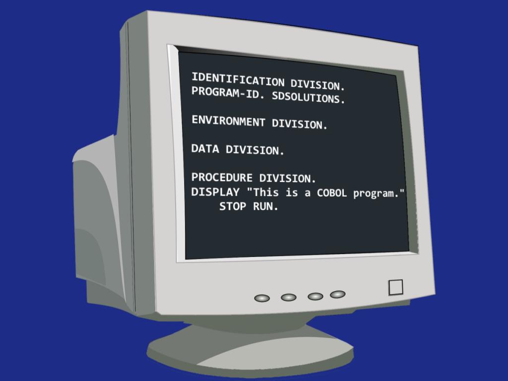 COBOL on a computer monitor