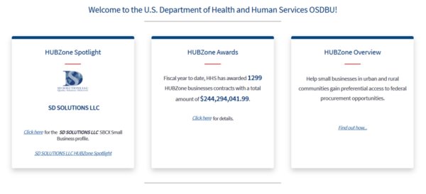 SD Solutions featured as HUBZone Spotlight on HHS OSBDU website